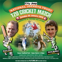 Jockeys all the rage for National Jockeys Trust Charity T20 tomorrow