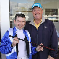 Dean Yendall accepts 'The Don Challenge' at Warrnambool May Carnival